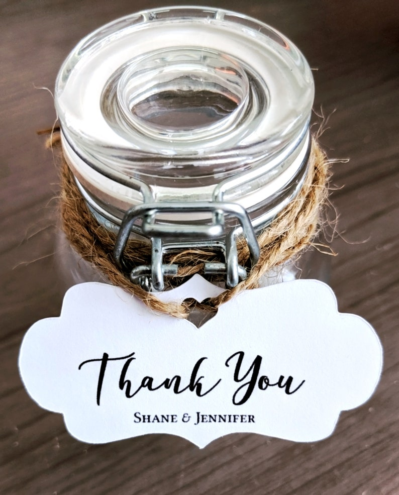 Personalized Thank You Favor Tag Wedding Bridal Shower Baby image 0