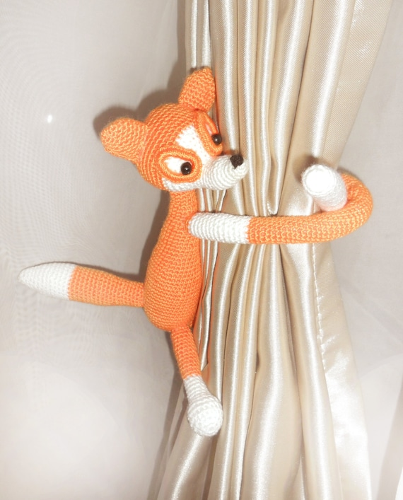 2 Pcs Monkey curtain tie back,Shabby chic curtains,Turquoise curtains,Nursery curtain tie back,Nursery curtains,Monkey curtains,etsy.com