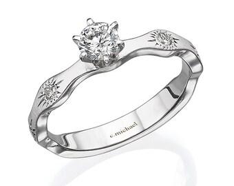 Heiligenschein Halo Diamant Ring Diamant Verlobungsringe Etsy