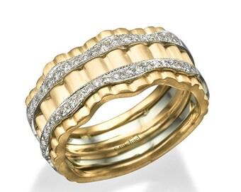 Manner Die Hochzeit Ring Ehering Mann 14 K Rotgold Ehering Etsy
