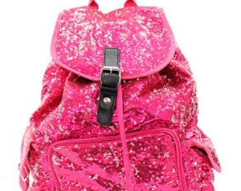 Monogrammed Sequin Backpack - 9 Colors to Choose From
