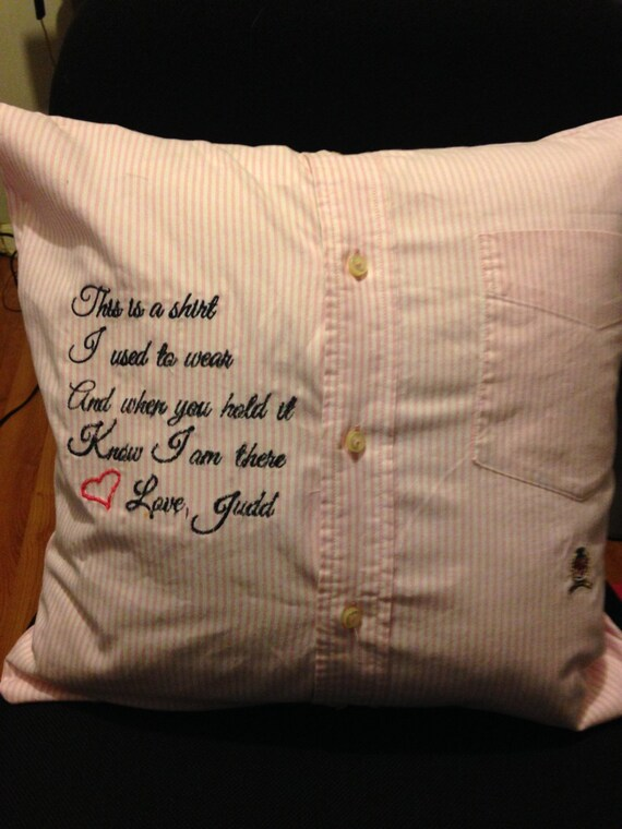 items similar to memory pillows made from shirts  robes  or any clothing of your loved ones