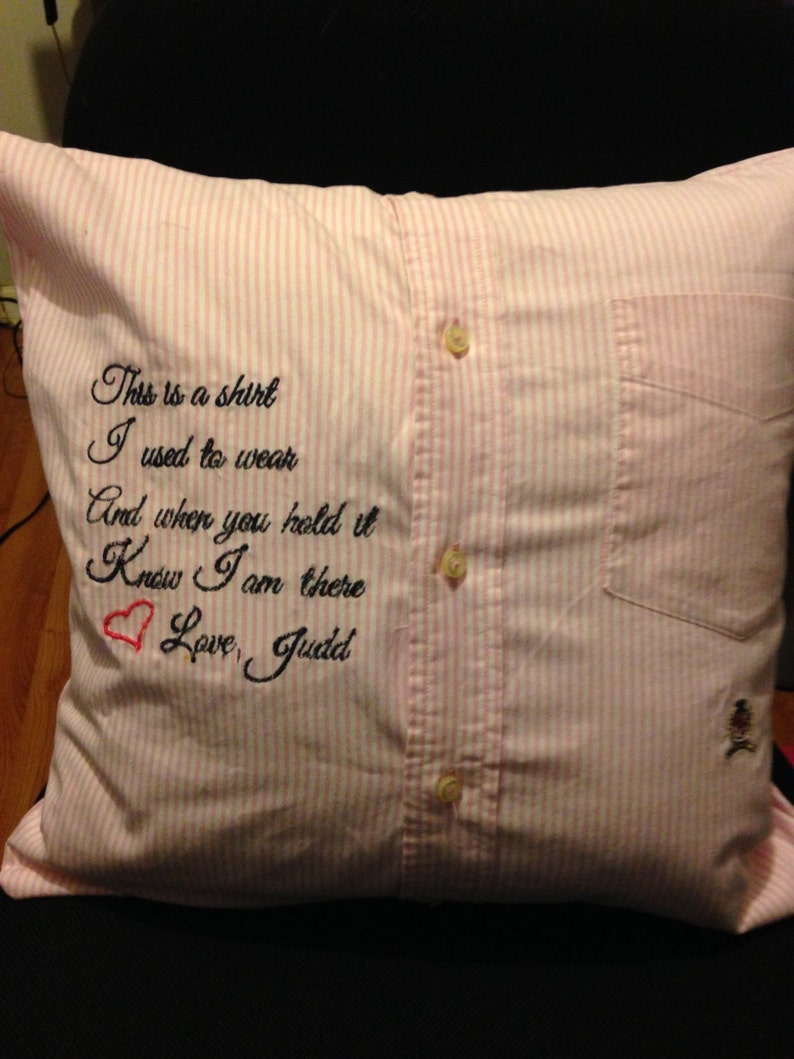 Memory Pillows made from Shirts Robes or Any Clothing of image 0