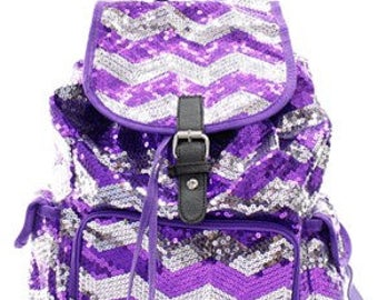 Monogrammed Sequin Backpack - 10 Colors to Choose From