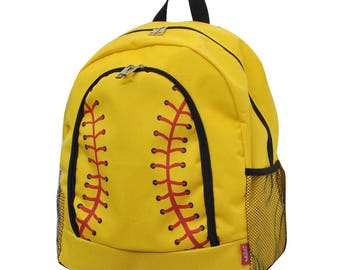 Softball Backpack and matching Canvas Insulated Lunch bag with FREE MONOGRAMMING