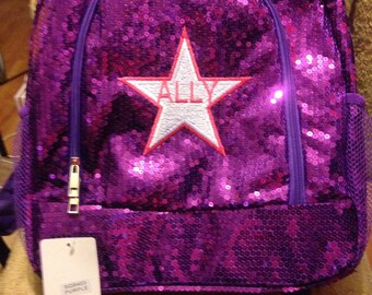 Monogrammed Sequin Backpack - 8 Colors to Choose From - UPDATED 4/4/17