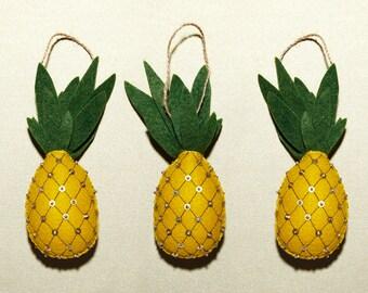 handmade felt pineapple christmas ornament perfect vacation memento