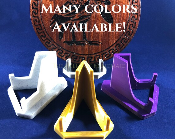 Display stand, 3D printed plastic holder for your altar pieces, art, fossils, gemstones, cell phone stand