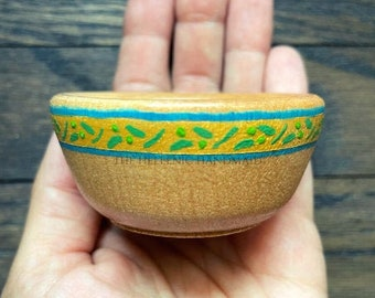 NEW Athene offering bowl, olive wreath wood bowl for altars and shrines to Athena with hand painted detail