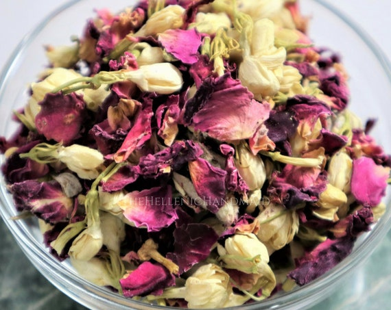 Rhea aromatic herb blend, offering to the Mother of the Gods. Jasmine, rose, silver fir and sweet orange mix for Titaness Rheia, Cybele