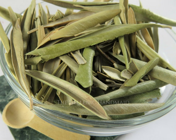 Olive Leaf 1/2oz, Whole Olea Europaea Dried Herb for Incense or Offering to Athene, Greek Athena