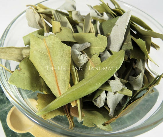 Athene aromatic herb blend, offering to Greek Athena, Goddess of crafts and wisdom. Hellenist ritual mix with olive, white sage, laurel leaf