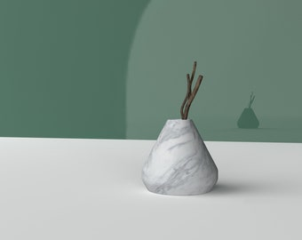 Cement vase mold concrete plaster pen barrel storage mold drop shape silicone cement flower pot molds