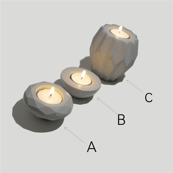 Cement Candlestick Silicone Mold Modern Nordic Concrete Candle Holder Mould