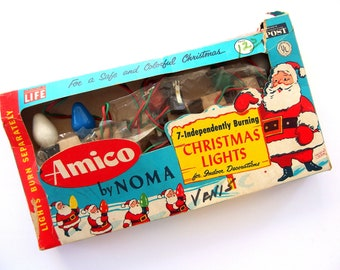 Vintage Christmas Holiday Indoor C7 Lights - 7 Light Strand by Amico by Noma IOB