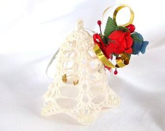 Vintage Handmade Bell Christmas Ornament