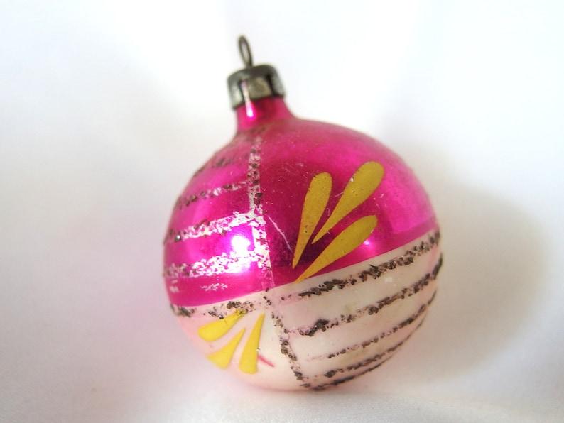 Mini Raspberry Polish Mouth Blown Glass Christmas Ornament Tree Decoration