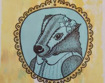 Bernice Badger Animal Print