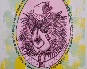 Penny Porcupine Animal Print
