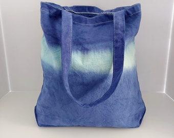 Small Dip Dye Tote Bag