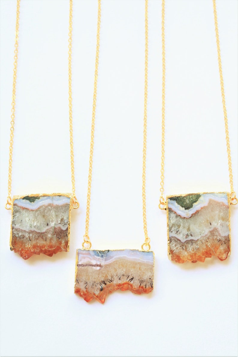 natural crystal necklace Citrine Necklace natural stone necklace Raw crystal necklace raw quartz necklace gemstone necklace