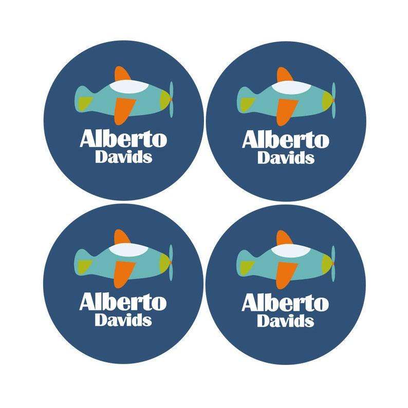 Airplane Waterproof Label- School Name Labels Dishwasher Safe Labels Schools Supply Labels Daycare Labels