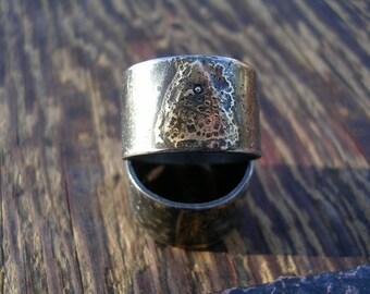 Esoteric elemental magic ring band SET sterling 23k keum boo gold