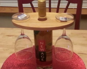 Wooden Wine Display, wine glass display, gift for wine drinkers