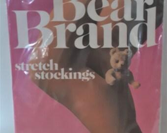 5c3539eda Vintage Bear Brand secret support stockings seam free size 9 1 2 - 10 in  original packaging