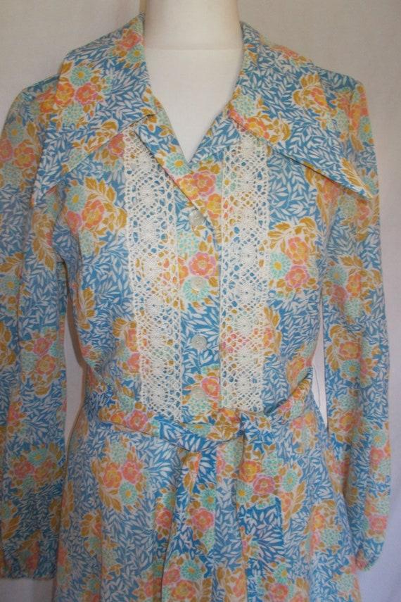 Vintage maxi dress 70s Berkertex Prairie Maxi Flor