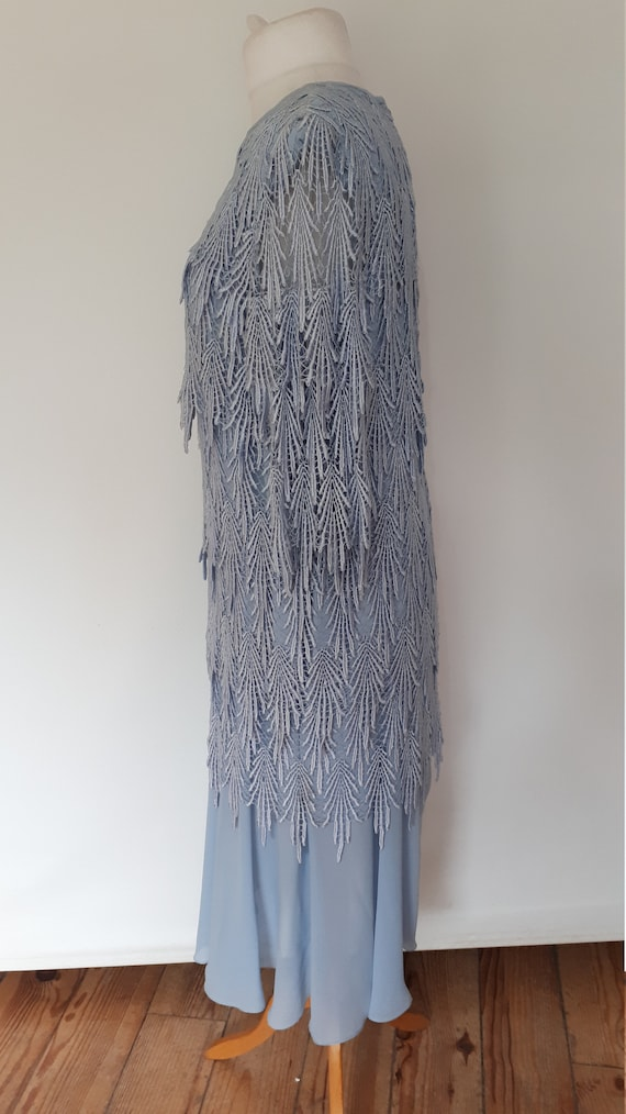 Gina to Vintage outfit mother blue Bacconi dress bride size dress the 80s XL of wedding evening large lace dress TTqrc5W