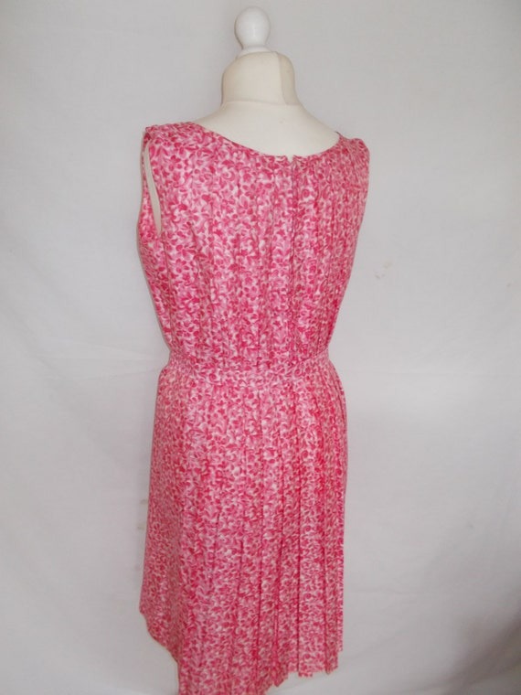 Barry UK 14 16 Floral size dress Pink dress Mayfair Vintage art deco Large flapper 1930s Du HxOXq