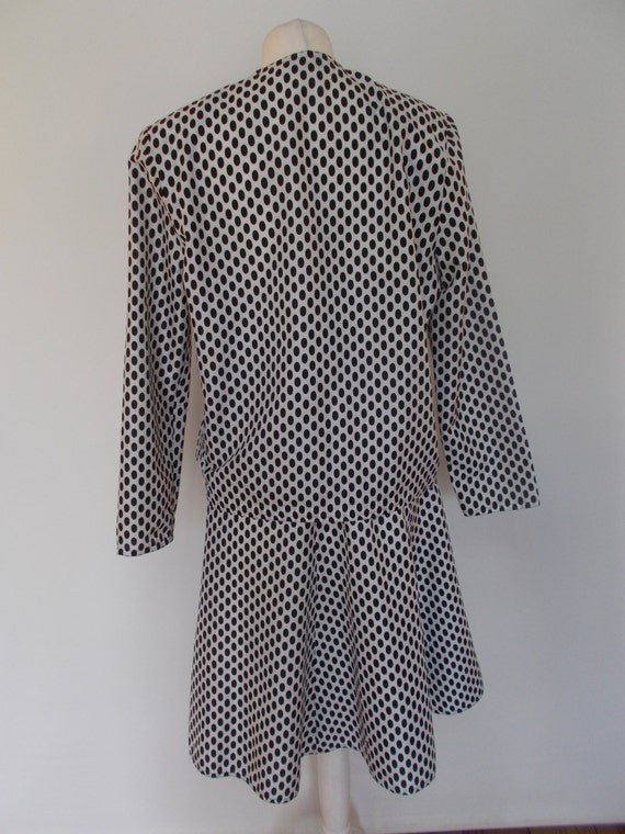 spotted Roland Vintage Size full 8 Klein black suit Small with white Jacket skirt by skirt 10 circle UK wwqUtar0