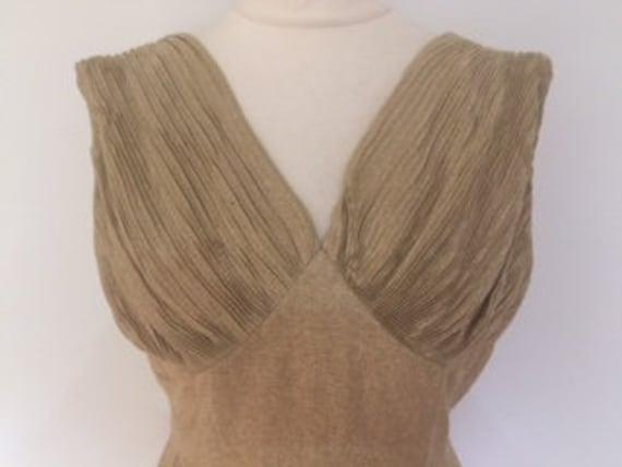 Vintage dress 50s Blanes of London gold metallic t