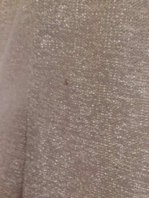 wiggle gold neck pencil Vintage size Blanes metallic London of medium dress dress 50s v thread UvqZxvgFWw