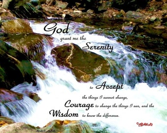 Serenity Prayer Magnet associated with Alcoholics Anonymous, AA Recovery, Desiderata & Good morning this is God, Prayer of St Francis