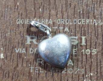 "Sterling silver heart charm - 925 - sterling silver - 1"" - l"