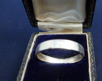 Large silver band ring - 925 - sterling silver - UK Y - US 12 - i