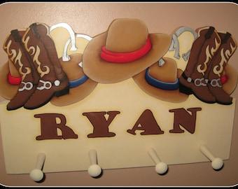Cowboy Personalized Name Plaque