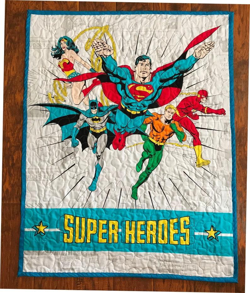 Batman Superman Flash Super Heroes DC Comics Justice League Cot BEDDING SET