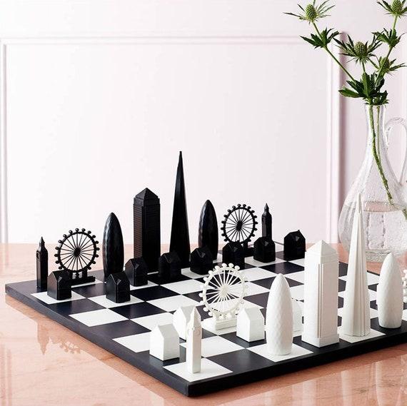 London Skyline Architectural Chess Set | Etsy