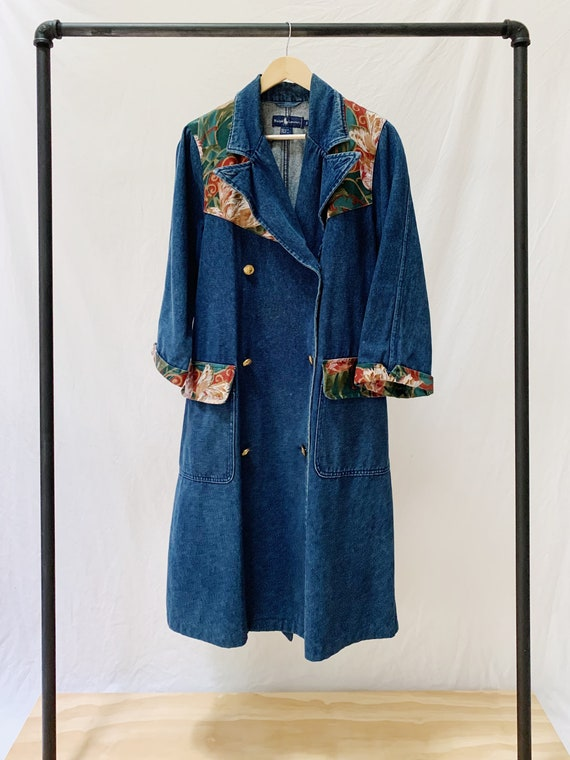 Vintage 80s Ralph Lauren Denim Duster Coat