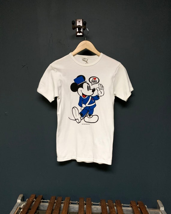 1970s J'adore Paris Mickey Mouse T-Shirt