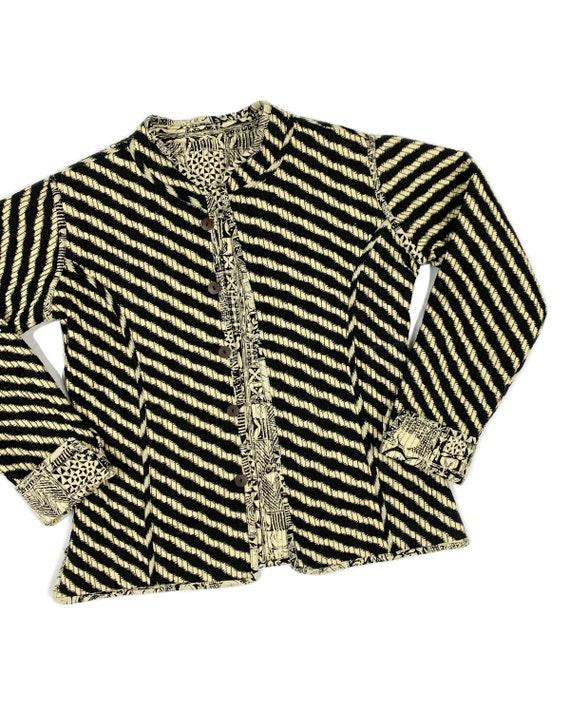 Vintage Reversible Block Print Jacket