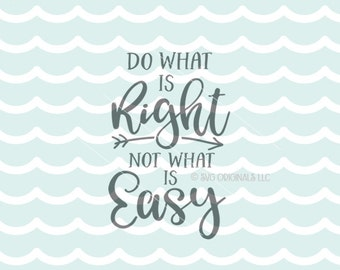 Do Right Not Easy Etsy