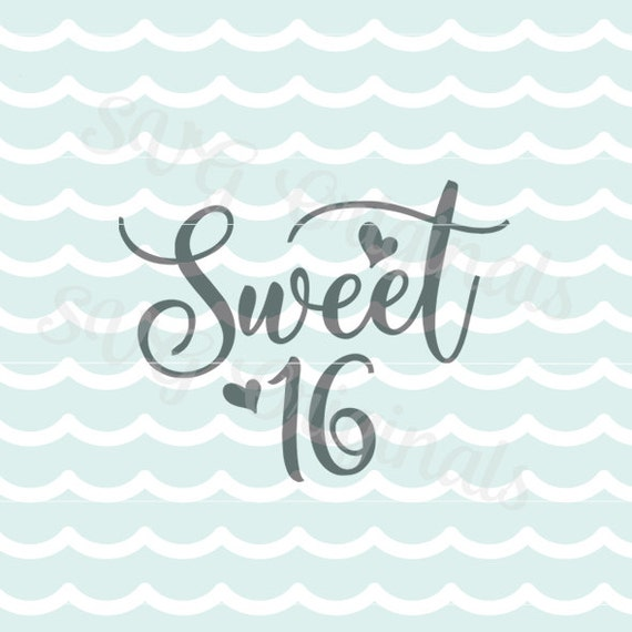 sweet 16 birthday girl svg vector file so many uses cricut etsy