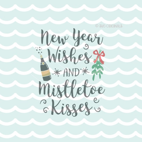 New Year Wishes SVG New Year SVG Cricut Explore & more. Happy | Etsy