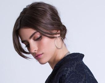 Thin Hoop Earrings, Casual Geometric Earrings, Big Bohemian Earrings, Large Hoop Earrings, Silver Circle Earrings, Stylish Hoop Earrings