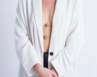 Gold Ball Necklace, Hipster Fashion, Long Gold Y Necklace, Stylish Necklace, Dainty Modern Necklace, Casual necklace, Unique Gifts For Women