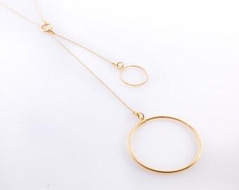 Long Lariat Necklace, Lasso Necklace, Y Necklace, Elegant Mothers Necklace, Minimalist Gold Necklace, Stylish Necklace, Casual Necklace
